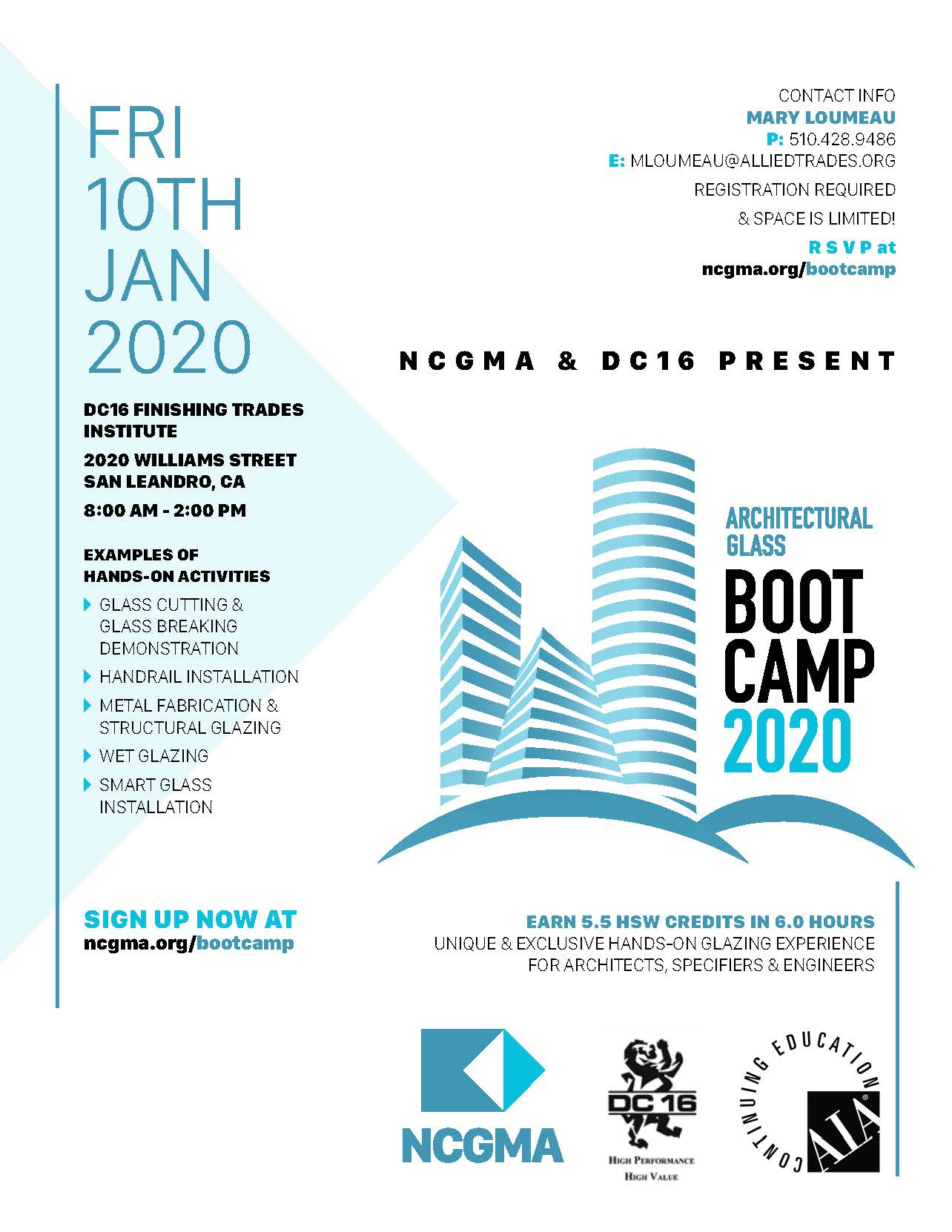 NCGMA Architectural Glass Boot Camp